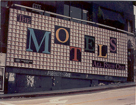 [Motel's billboard on Whisky a Go Go 1982]